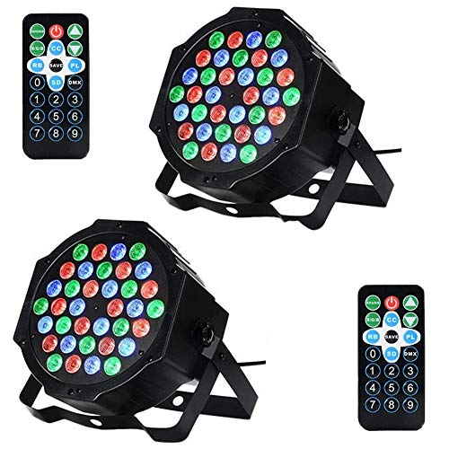 Litake 36 LED Stage Lights, Party Disco DJ Lights RGB 7 Lighting Modes...