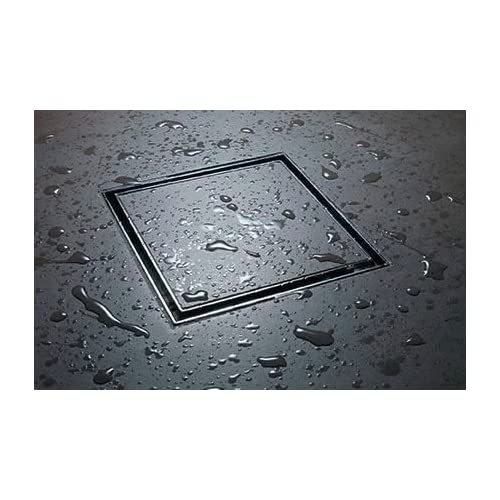 LIDCO Tile/Marble/Stone Insert Floor Drain in Marine Grade Stainless Steel SS 316 (150mm x 150mm) - 6 Inch x 6 Inch - Now with Cockroach Trap!!