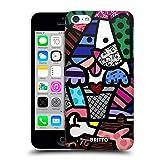 Head Case Designs sous Licence Officielle Britto Amour De Chiot Illustrations Abstractes Coque Dure pour l'arrière Compatible avec Apple iPhone 5c