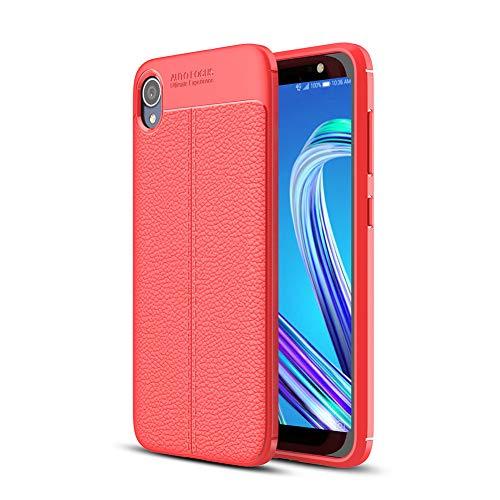 XMTN ASUS ZenFone Live (L1) ZA550KL 5.5' Custodia,Slim TPU Armor Cover Custodia per ASUS ZenFone Live (L1) ZA550KL Smartphone(Rosso)