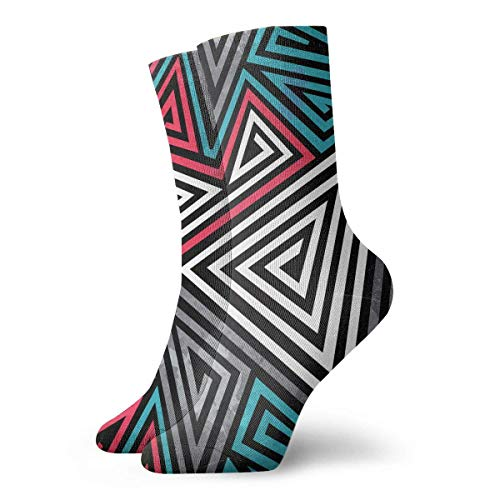 Tammy Jear Triangle Spirals Seamless Pattern Männer Damen Casual Athletic Stoking 30CM Crew Socken