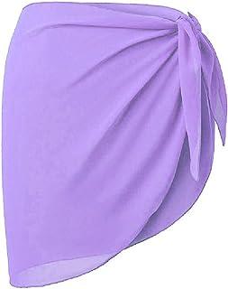MogogoWomen Beach Wrap Sarong Cover Up Chiffon Swimsuit Bikini Wrap Skirts
