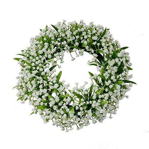 Wunderschöner Schleierkraut Kranz- grün und weiß - Frühjahr - 22 cm Durchmesser - künstlich