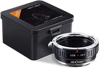 K&F Concept Lens Mount Adapter for Canon EOS Lens to Sony Alpha NEX E-Mount Camera, EOS to NEX Lens Adapter, Fits Sony NEX...