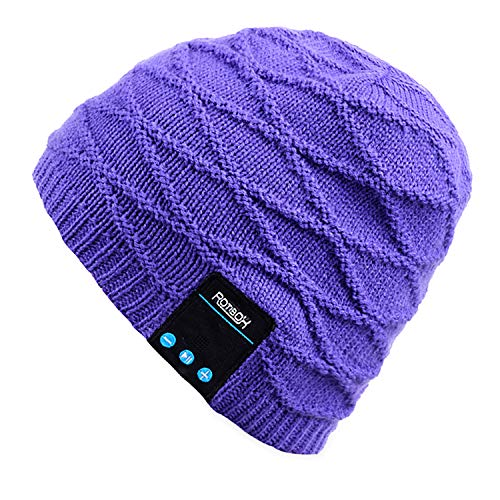 Mydeal Rechargeable Bluetooth Beanie Fashional Double Knit Skully Hat Cap w/ Wireless Stereo Headphone Headset Earphone Speakerphone Mic for Sports Skating Hiking Camping