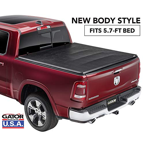 "Gator ETX Soft Tri-Fold Truck Bed Tonneau Cover | 59421 | Fits 2019 - 2020 Dodge Ram ""New Body Style"" w/out Multifunction Tailgate 5'7"" Bed 