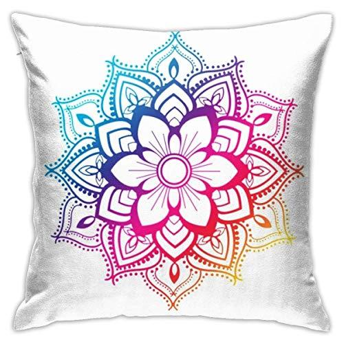 maichengxuan Warm Mandala Throw Pillow Cover, Pillowcases, Floor Pillowcases, Sofas, Cushion Covers, Car Cushion Backrest Covers