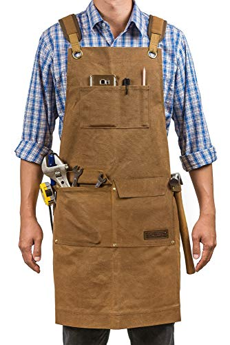 GIDABRAND Luxury Waxed Woodworking Apron