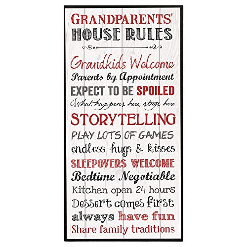 P. Graham Dunn Grandparents House Rules 12 x 6 Mounted Print Decorative...