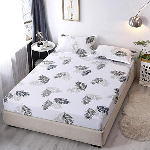 Soft and Comfortable Sheets ,Polyester fiber fitted sheets, cartoon dustproof mattress protector suitable Little kids bedroom-T_90*200cm