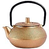 Tetera pequeña de hierro fundido estilo japonés tetera tetsubina pequeña tetera tetera 50 ml, fácil de llevar set de...