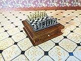 Sa-Dollshouse D2407 Miniatura Ajedrez Deluxe 1:12 para Casa de Muñecas