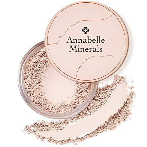 Annabelle Minerals - Coverage Mineral Foundation mit Lichtschutzfaktor und natürlichen Inhaltsstoffen - Voll Deckend - Makellos & Natürlich Aussehen - Sonnenschutz LSF30 - Vegan - Natural Light - 10g