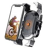 WJY Support Téléphone Vélo, Support Smartphone Universel Sacoche Vélo, Compatible avec l'iPhone 11, X/XR/XS Max, Samsung et la Plupart des Smartphones de 4 à 6,8 Pouces