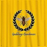 Alicert5II Personalisierter Monogramm-Bienen-Duschvorhang-Lorbeerblatt-Rahmen