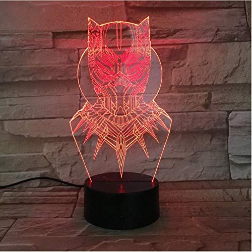 3D Led Panther Night Light Usb Touch Luminous Hero Desk Lamp Kids Bedroom Sleep Lighting Worldwide