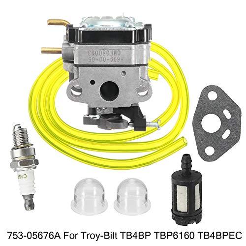 Carburatore per Motore For Troy-Bilt TB4BP TB4BPEC TBP6160 753-05676A Zaino Blower carburatore Carb Sostituzione del Carburatore