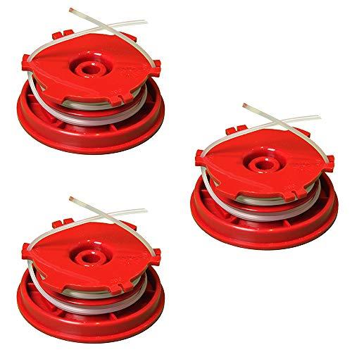IKRA 73500400-3 Ersatzspulen (DA-F12) 3er-Set Fadenspulen für Freischneider