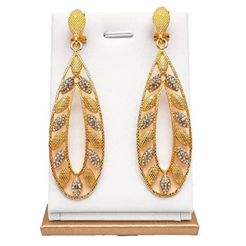ACEACE Pendientes de Cristal cuelgan los Pendientes de Oro Regalo de la joyería for Las Mujeres de la joyería de la Moda del Pendiente del Perno
