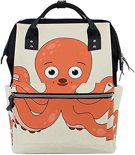 Schoolrugzak cartoon octopus luiertas mummietas muti-functie print papa luier baby mummierugzak reizen stijlvolle verzorging draagtassen moeder waterdichte rugzak met