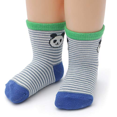 Toddler Non Skid Boy Socks - 12 Pairs Infant Baby Kid Children Grips Socks Girl Cartoon Cute Socks Multicolor Style 1-3 Years