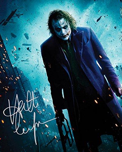 Heath Ledger - Joker #2 | Foto de Laboratorio, reimpresión de Firma | Tamaño de 10x8 para Marcos de 10x8 Pulgadas | Calidad de Laboratorio | Exhibición de la Foto | Regalo Presente Coleccionable