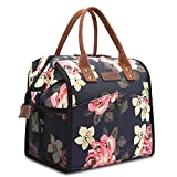 CoolBELL Lunch Bags for Women Floral Lunch Tote Water-Resistant Cooler Bag Soft Leak
