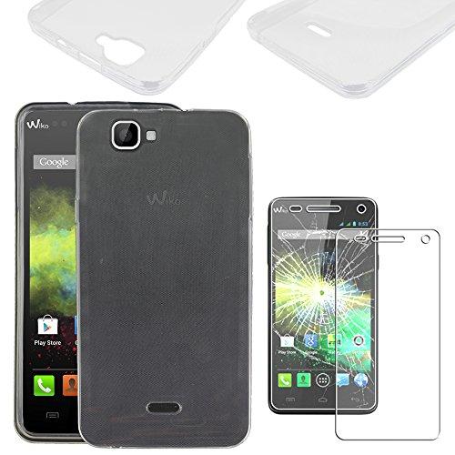ebestStar - kompatibel mit Wiko Rainbow Hülle Rainbow 4G Handyhülle [Ultra Dünn], Durchsichtige TPU Schutzhülle, Soft Flex Silikon, Transparent +Panzerglas Schutzfolie [Phone: 146x74x10mm 5.0