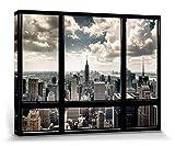 1art1 New York - Fenster Mit Ausblick Auf Die Skyline