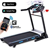 ANCHEER Folding Treadmill, 3.25HP Automatic Incline Treadmill, Walking Running Jogging Running Machine with...