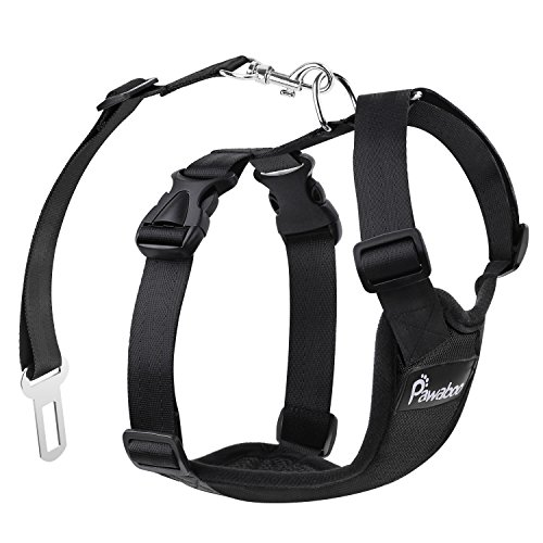 Pawaboo Dog Safety Vest Harness, Pet Car...