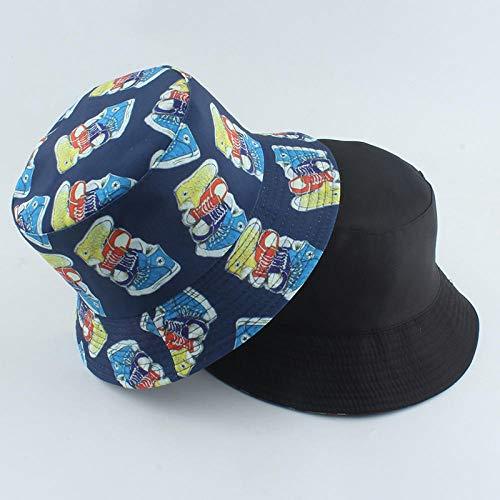 YDXC Sombrero De Cubo Streetwear Hip Hop Fisherman Hat Outdoor Sport Shoes Print Bucket Hat Reversible Summer Visor Bucket Cap Apply To Running Travel Etc-Navy