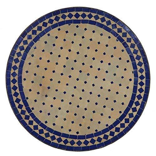 Oriental mosaïque Table Ø 70 cm Bleu Casa Moro MT2084