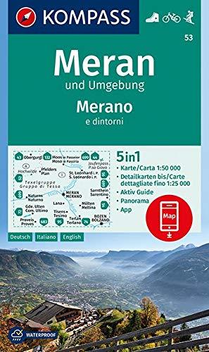 Carta escursionistica n. 53. Merano e dintorni 1:50.000. Ediz. italiana, tedesca e inglese: Wandelkaart 1:50 000