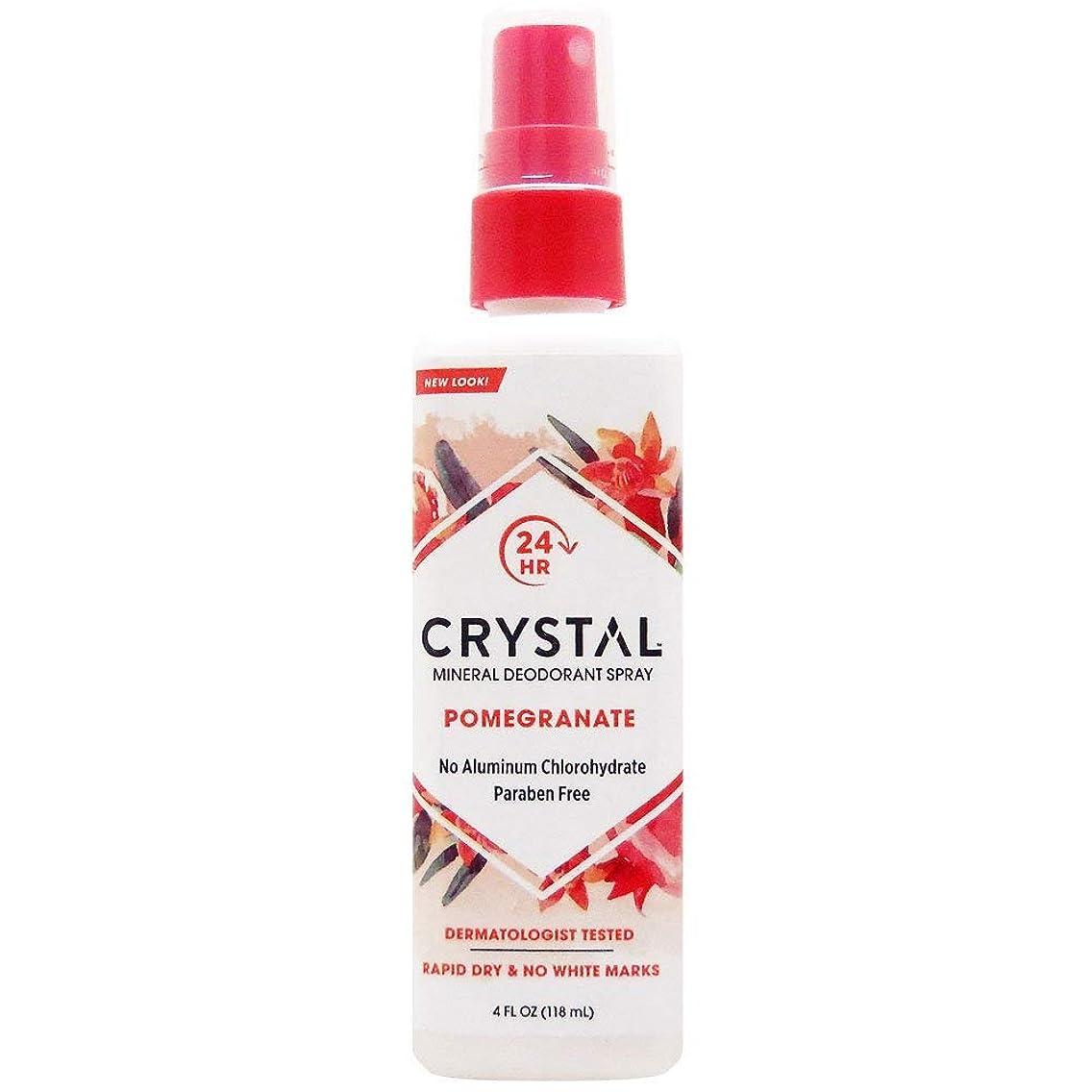 シリング永遠の影響力のあるCrystal Essence 486522 Crystal Essence Mineral Deodorant Body Spray Pomegranate - 4 fl oz