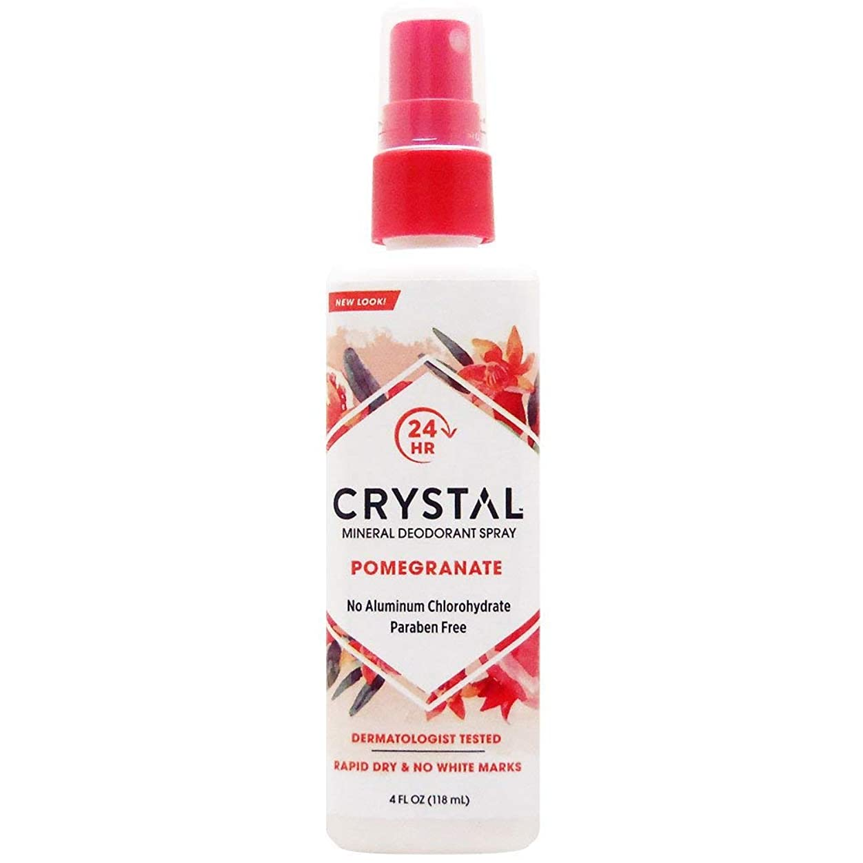 プログラム順番義務づけるCrystal Essence 486522 Crystal Essence Mineral Deodorant Body Spray Pomegranate - 4 fl oz