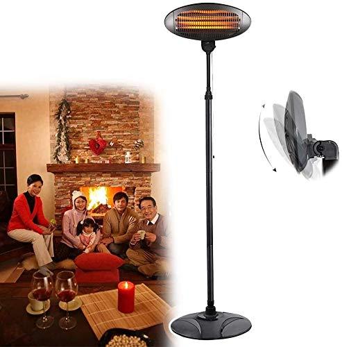 WSZYBAY Lámpara para calentadores de patio independiente, calentador de mesa para patio, 3 configuraciones de energía, elemento de calentamiento de tubo de cuarzo, ángulo de calor ajustable y altura p