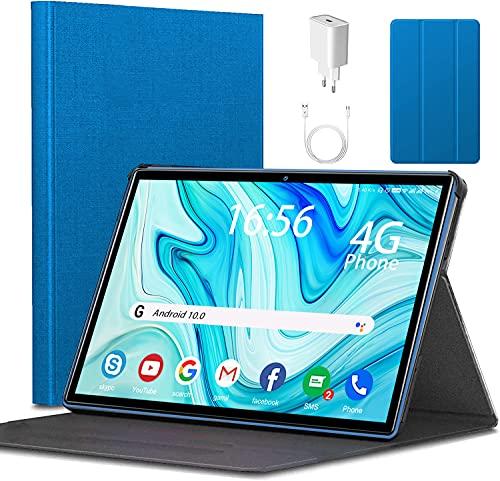 5G WIFI Tablet PC Offerte Android 10.0 Octa-Core 1.5Ghz, DUODUOGO S1 Tablet 10.1 Pollici con WIFI Offerte 6GB RAM 128GB ROM Fino a 128GB Google GMS Netfilx Camera Bluetooth 4.3 Type-C 7000mAh (Blu)