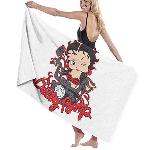 Betty Bo_op - Toalla de playa de secado rápido de microfibra para viajes, toalla de baño súper absorbente, toalla ligera para playa, piscina, spa, natación, senderismo y uso en el hogar, tamaño grande