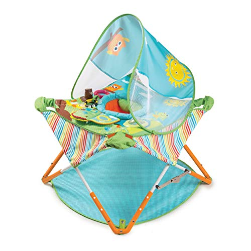 Summer Pop 'n Jump Portable Activity Center – Lightweight Baby Jumper with Toys for OnTheGo and at Home Compact Fold for Storage and Travel