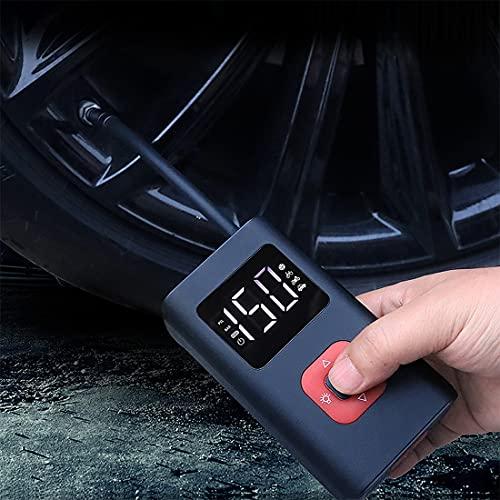 Compresor de aire portátil mini inflador de neumáticos 150PSI bomba de neumáticos con luz LED Bomba de aire eléctrica para coche motocicleta bicicleta natación anillo bolas