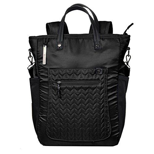 Sherpani Women's Soleil Le Black Laptop Backpack, One Size