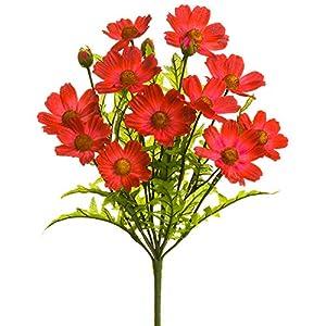 "Silk Flower Arrangements 18"" Silk Cosmos Flower Bush -Beauty (Pack of 12)"