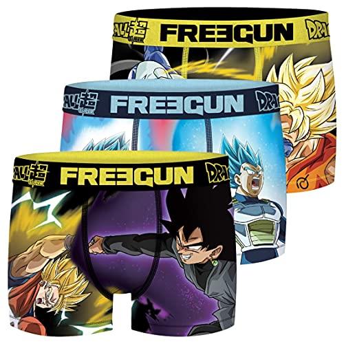 FREEGUN Calecon Boxer Garcon Microfibre Dragon Ball Super (Lot de 3) Taille 12/14 Ans
