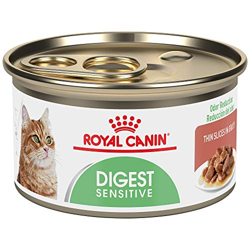 Royal Canin Digest Sensitive Thin Slices in Gravy Wet Cat Food, 3 oz. can (PACK OF 24)