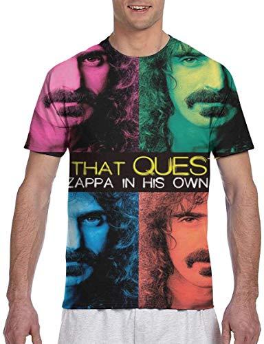 Fashion Men's T-Shirts Frank Zappa Eat That Question Printed T-Shirt Short Sleeve Tees M,Black,3X-Large