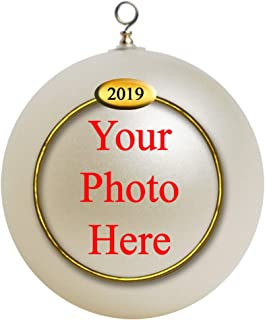 Custom Personalized Photo Unbreakable 2019 Christmas Ornament Gift, Baby First Ornament,Our First Ornament Gifts