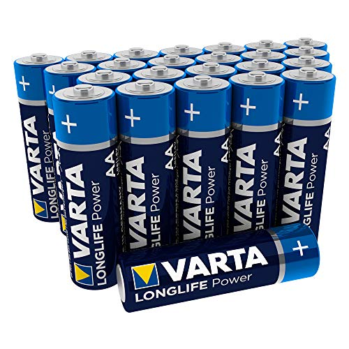 VARTA Longlife Power AA Mignon LR6 Batterie (24er Pack) Alkaline Batterie - Made in Germany - ideal für Spielzeug Taschenlampe Controller und andere batteriebetriebene Geräte