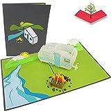 PopLife Cards Camping-Ausflug Pop-up-Karte - alle