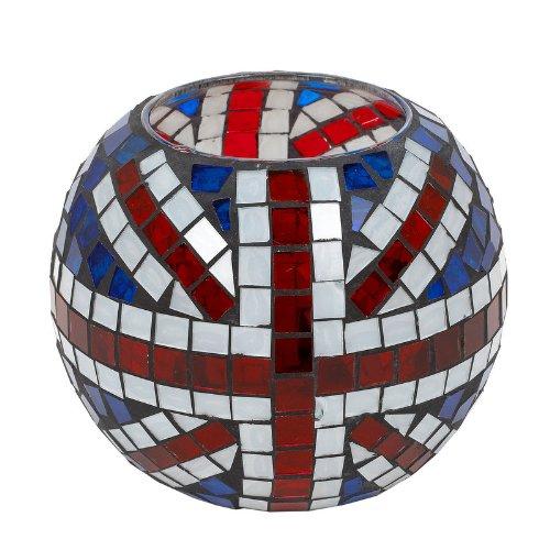 Landon Tyler Grand bougeoir Ovale Motif Union Jack en mosaïque